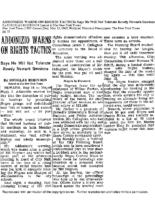 Addonizio Warns on Rights Tactics (New York Times May 25, 1967)