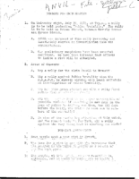 Anvil Meeting Outline, July 1964- Potential rebellion in Newark after Harlem