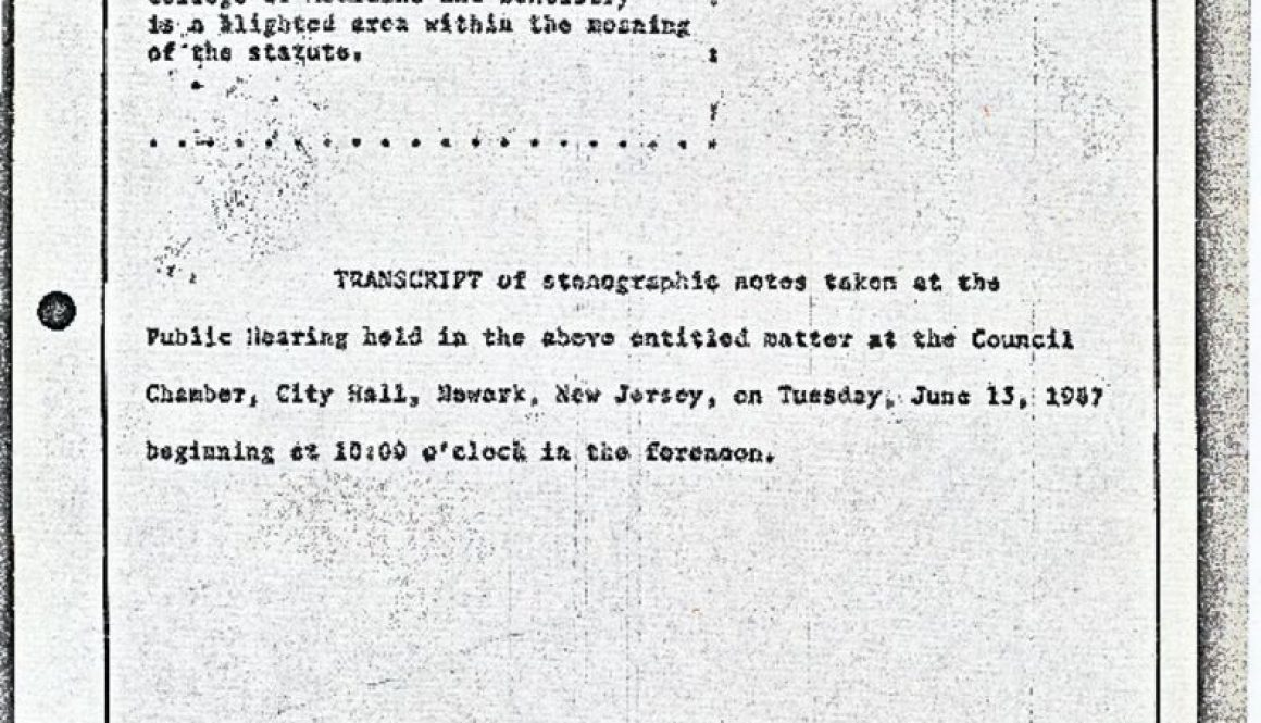thumbnail of Blight Hearings Transcript Excerpts Cover Page