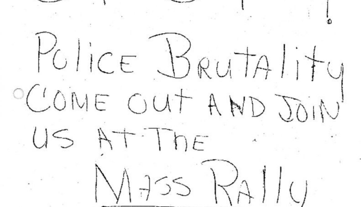 thumbnail of C-25 (Leaflet -Stop Police Brutality Come out and join us at the mass rally, 4th Precinct- July 13 1967) copy