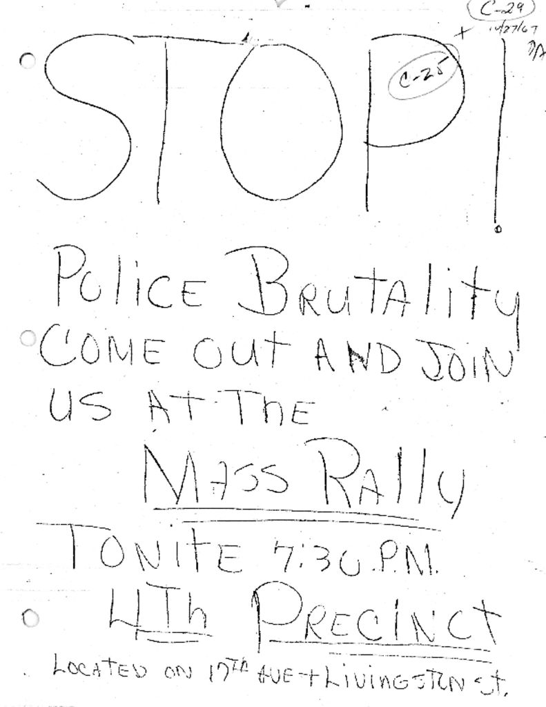 Flyer for Rally at Fourth Precinct