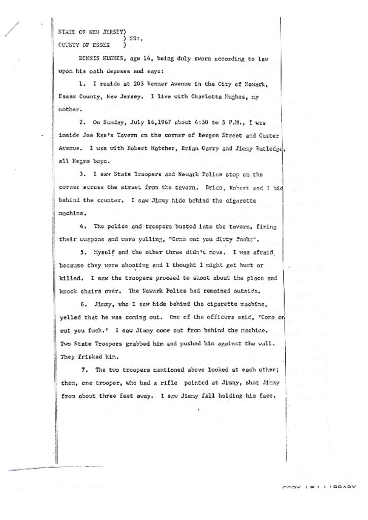Dennis Hughes Deposition on James Rutledge