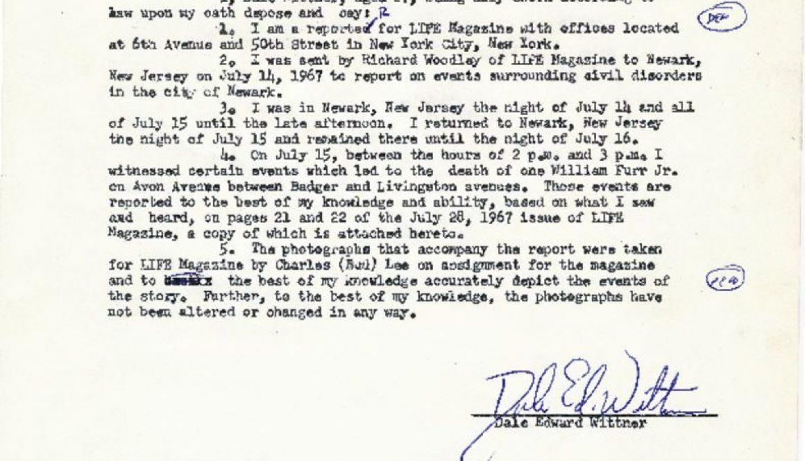 thumbnail of Deposition of Dale Wittner