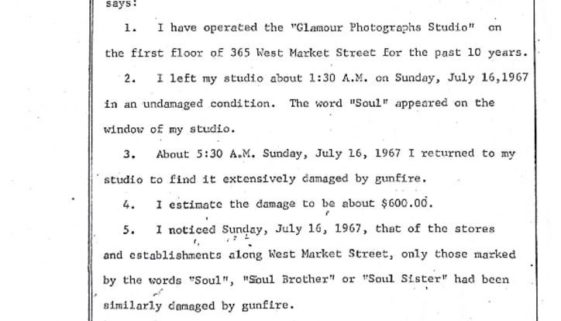 thumbnail of Deposition of Louis S. Allen on Damage to Black Businesses