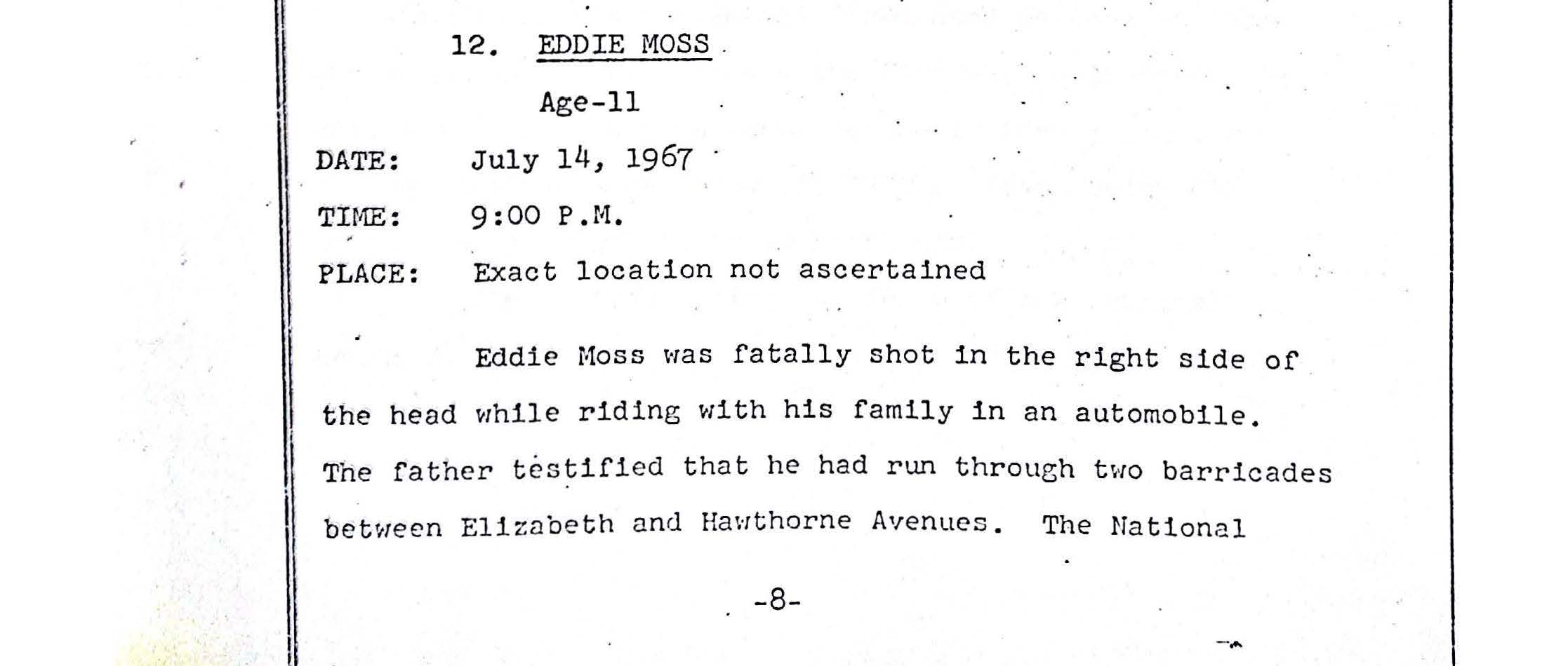 Grand Jury Report on Death of Eddie Moss