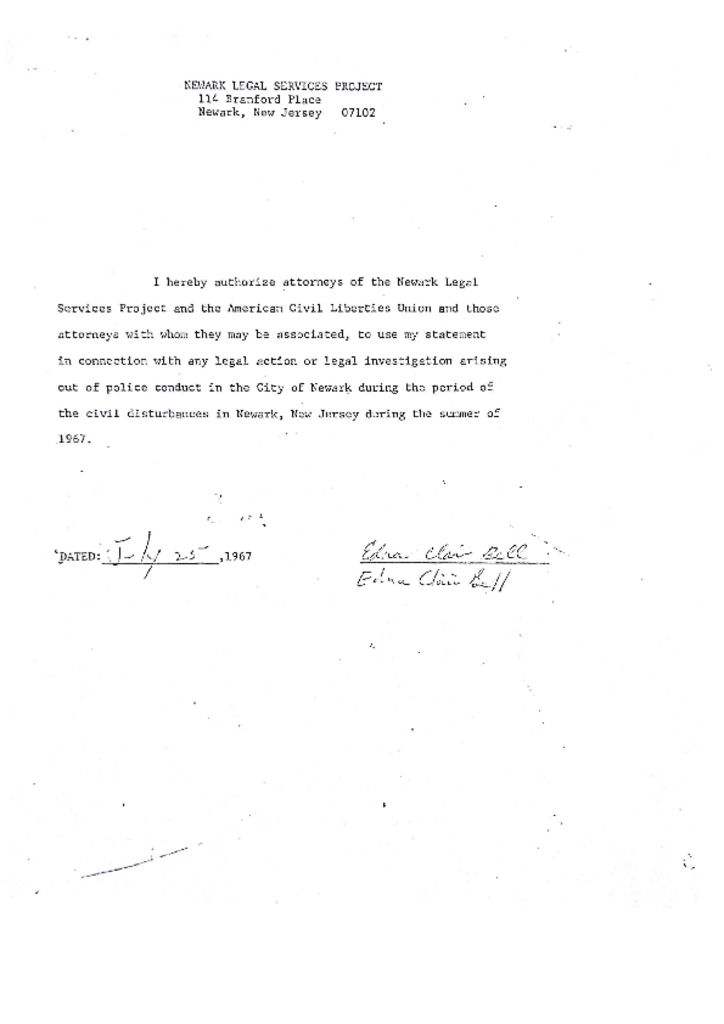 Deposition of Edna Clair Bell