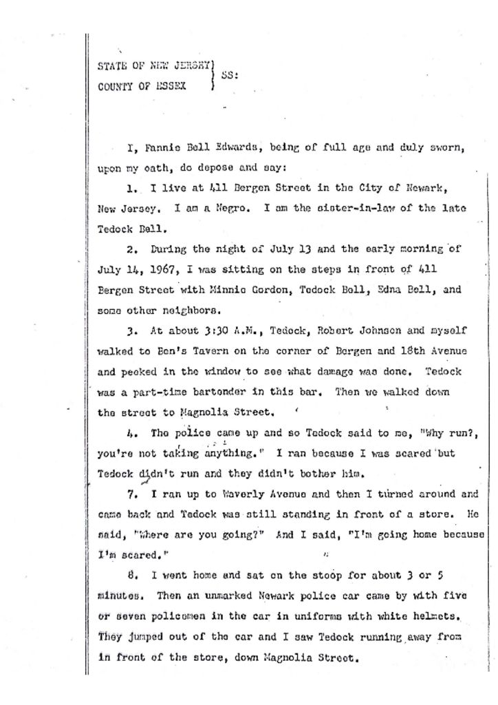 Deposition of Fannie Bell Edwards
