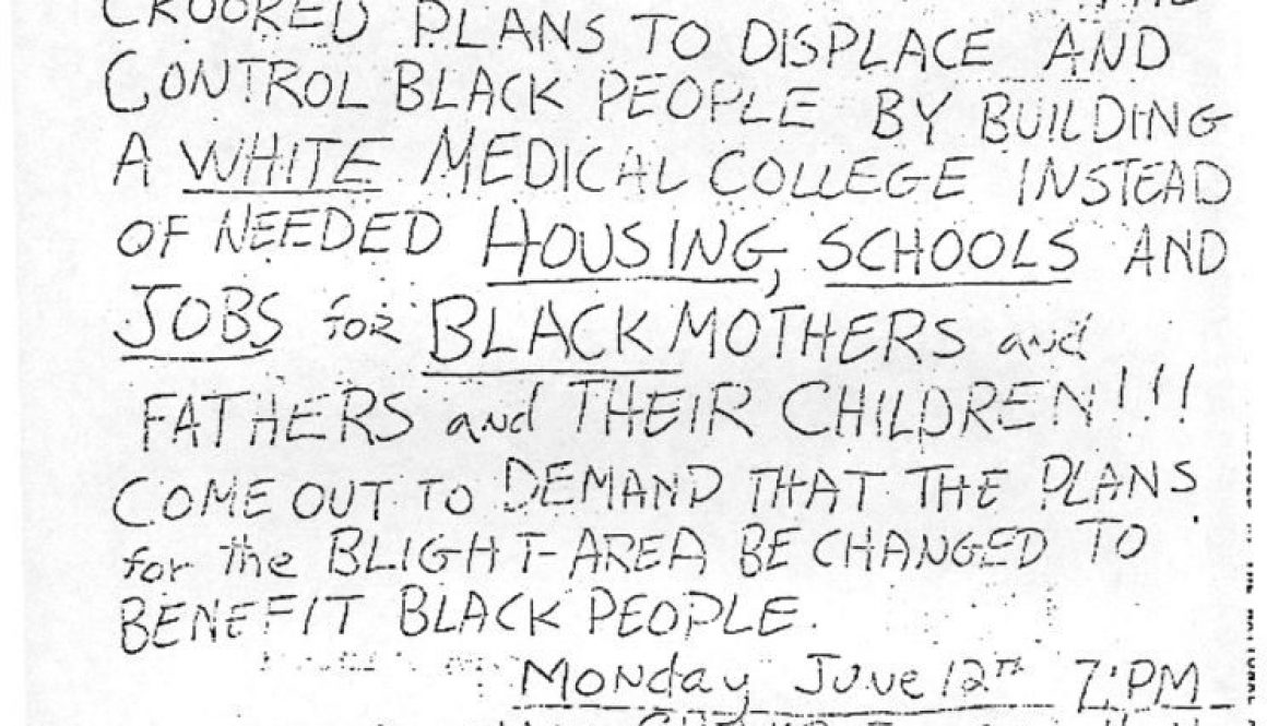 thumbnail of Flyer to Attend Blight Hearings- June 12, 1967