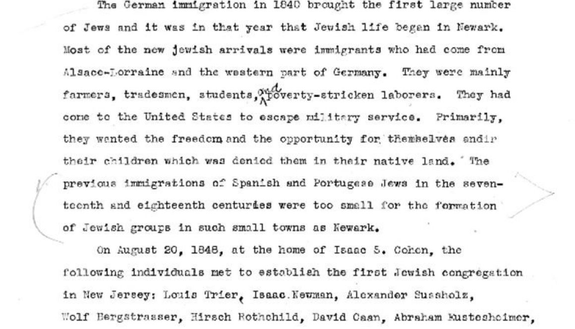 thumbnail of German Jews in Newark (WPA Report)