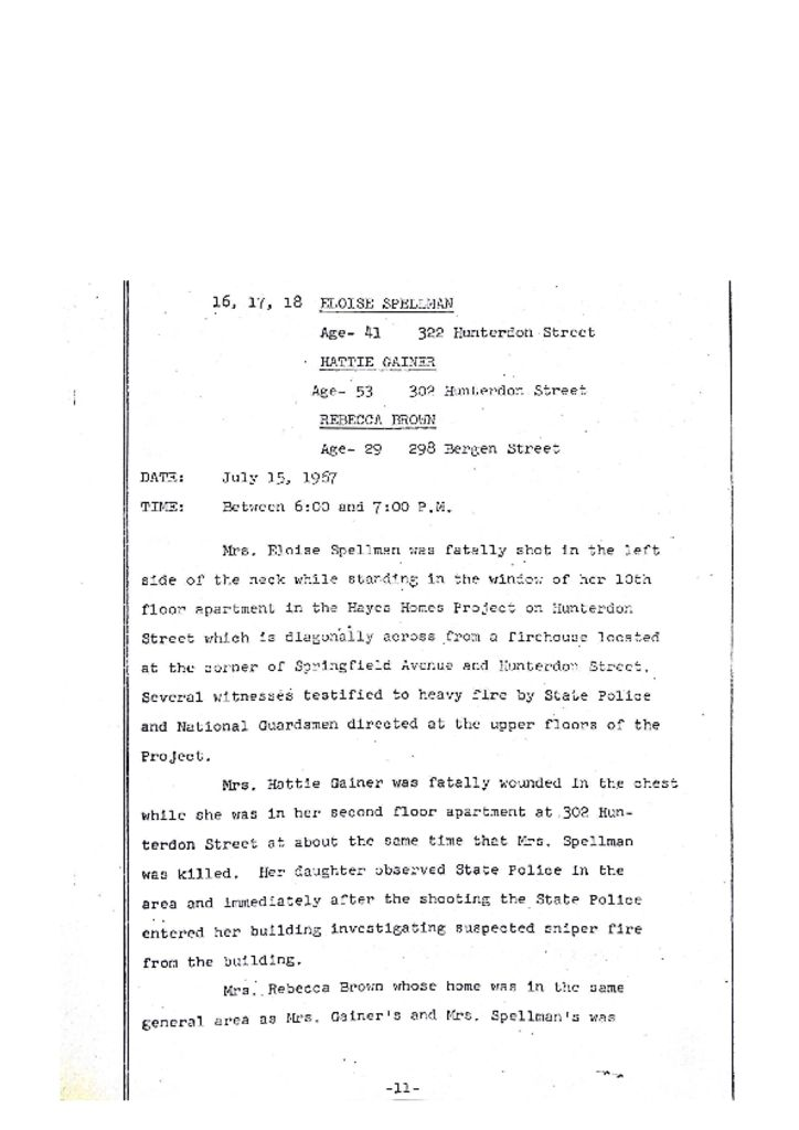 Grand Jury Report on Death of Hattie Gainer