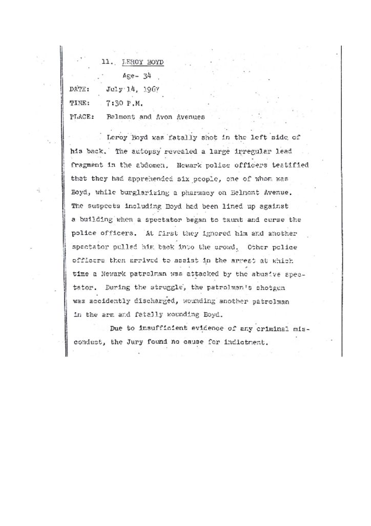 Grand Jury Report on Death of Leroy Boyd