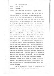 "Grand Jury report describing the death of Raymond Gilmer on July 18, 1967, who was ""fatally shot in the back of the head"" by a Newark detective ""after disregarding an order to halt."" The Grand Jury found ""no cause for indictment."" -- Credit: Newark Public Library"