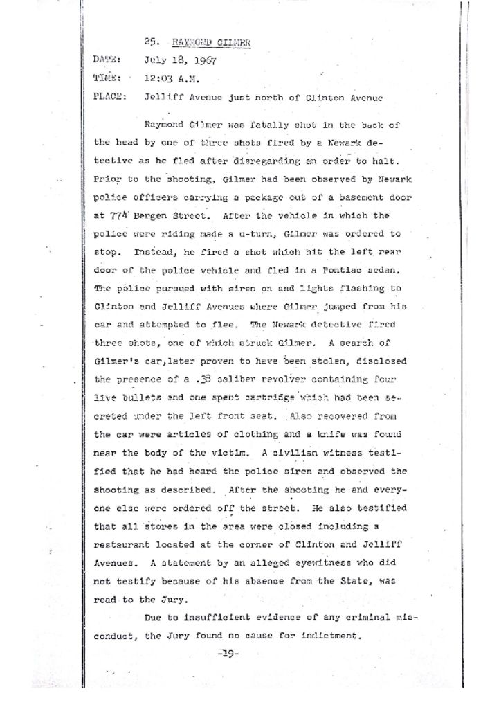 Grand Jury Report on Death of Raymond Gilmer