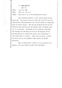 """Grand Jury report describing the fatal shooting of 45-year-old Rose Abraham on July 14, 1967, who was shot while police were """"attempting to clear this area of looters."""" The Grand Jury found """"no cause for indictment."""" -- Credit: Newark Public Library"""