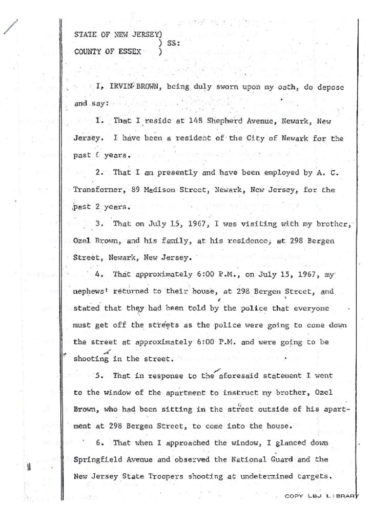 Deposition of Irving Brown