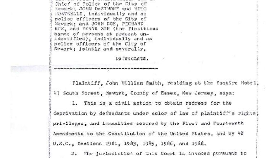 thumbnail of John Smith Legal Complaint Against Dominick Spina, et al