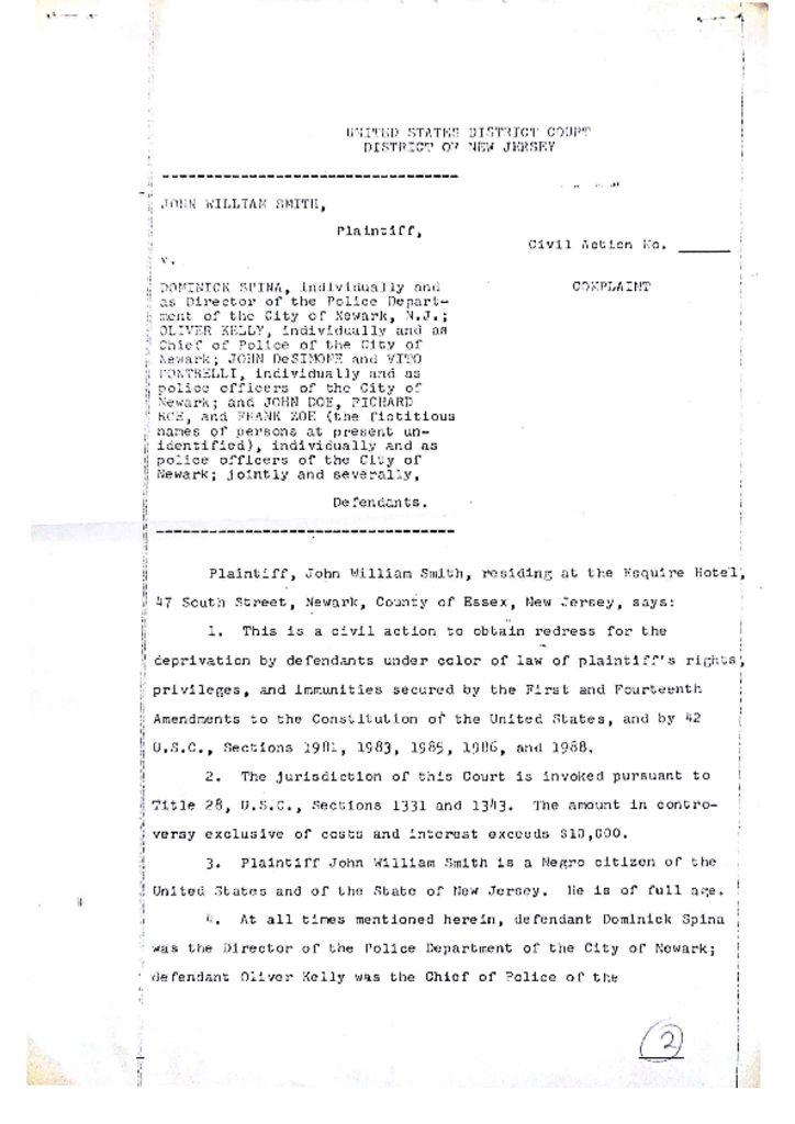 John Smith Legal Complaint