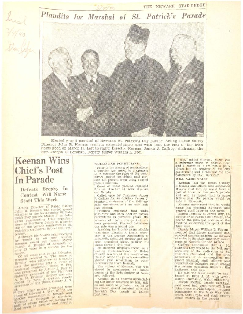Keenan Wins Chief's Post in Parade