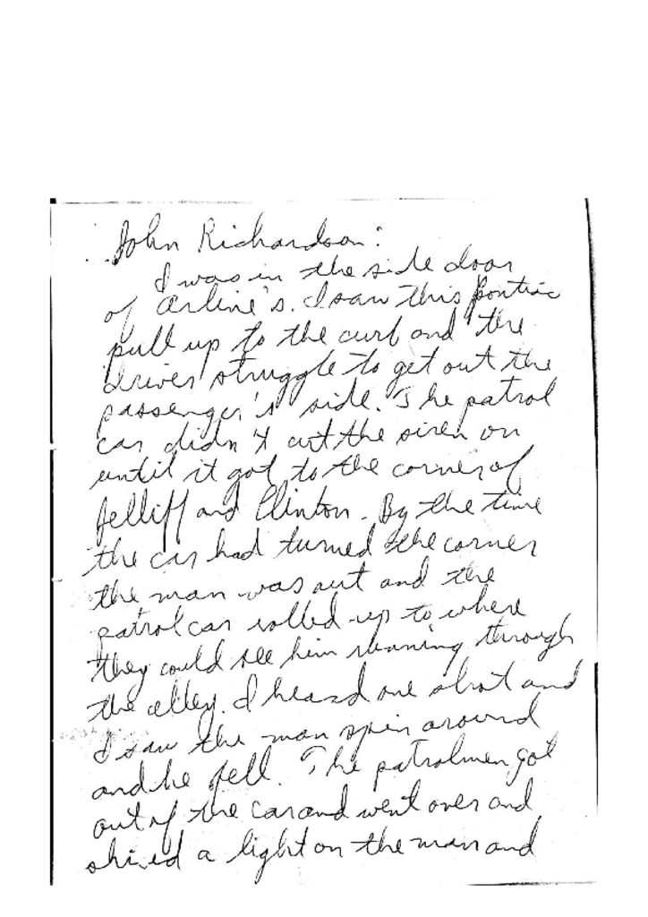 Witness Statement of John Richardson