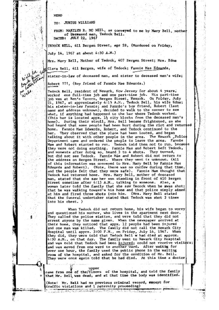 Witness Statement of Mary Bell