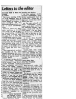 Letter to Editor Discounts talk of riot for Newark (NJ Afro American Aug15,1964)
