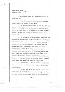 Deposition of 22-year-old Marie Gainer before the Essex County Grand Jury, in which she describes finding her mother, Hattie Gainer, shot after State Troopers began opening fire upon the Hayes Homes apartments buildings on July 15. -- Credit: Newark Public Library