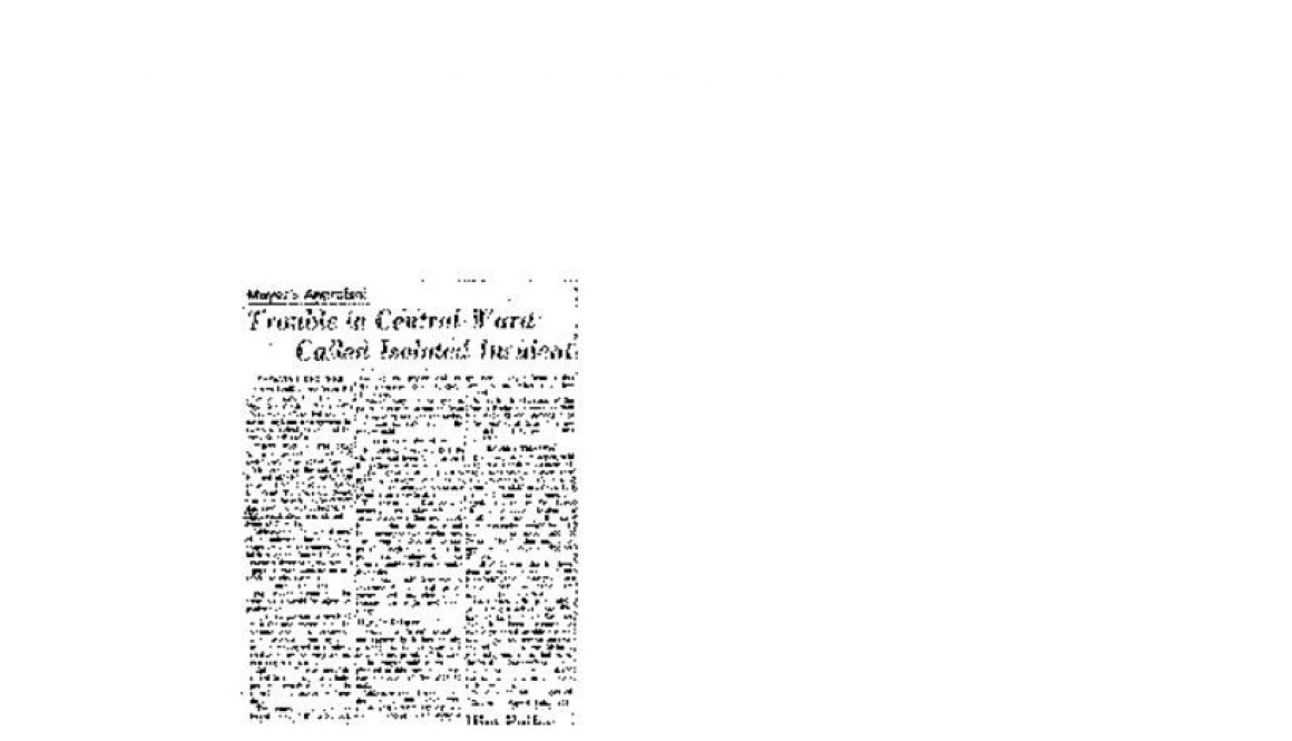 thumbnail of Mayor's Appraisal- Trouble in Central Ward Called Isolated Incident (Newark Evening News- July13, 1967)-ilovepdf-compressed