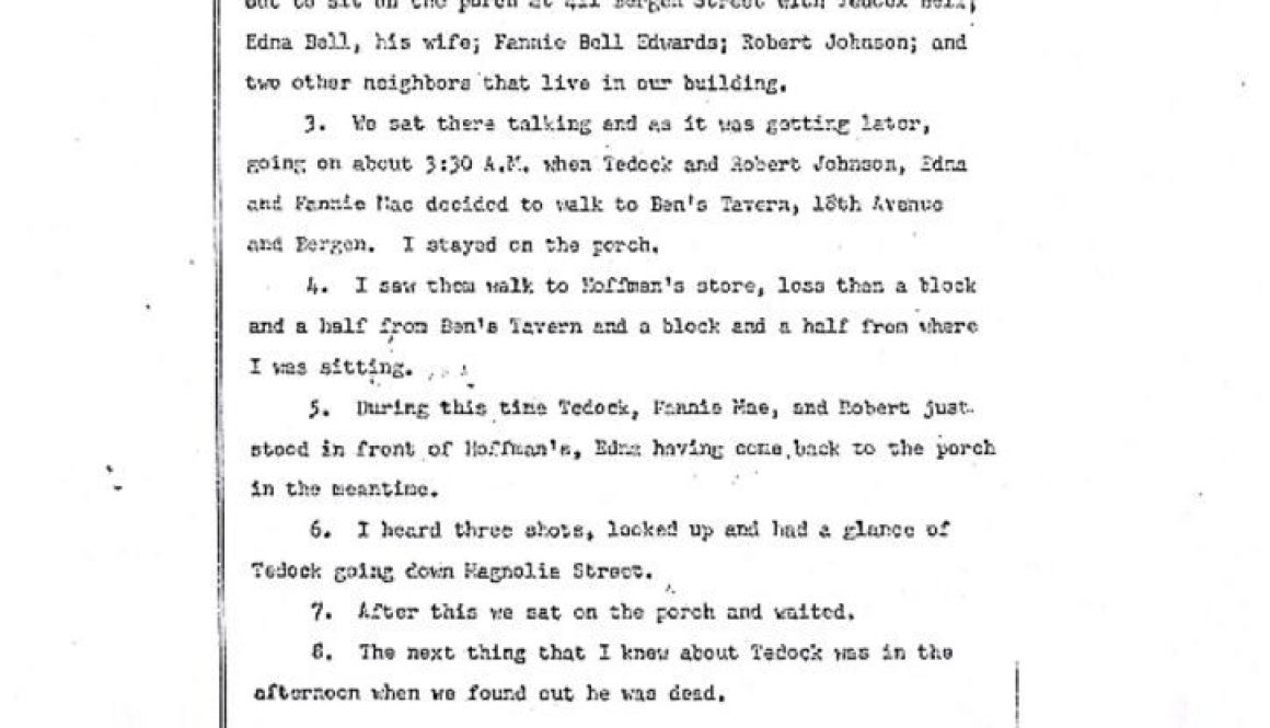 thumbnail of Minnie Gordon Deposition on Tedock Bell