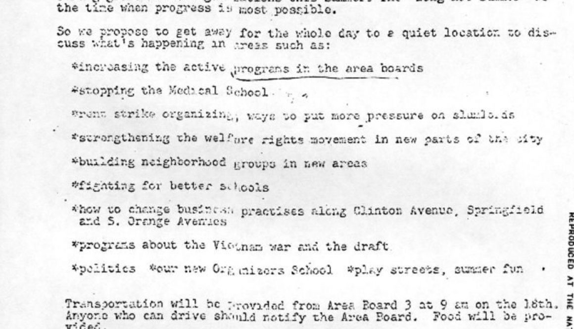 thumbnail of Newark Organizers Training Institute Letter- Invite to Newark Movement Conference at Echo Lake Park, Jun 18, 1967-ilovepdf-compressed
