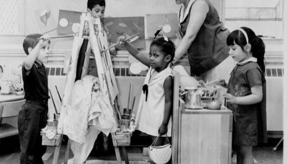 Puerto Rican Teacher with Class, 1966