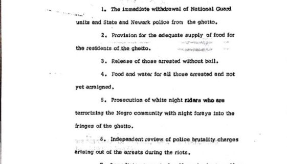 thumbnail of Residents of Newark Statement of Demands (July 16, 1967)
