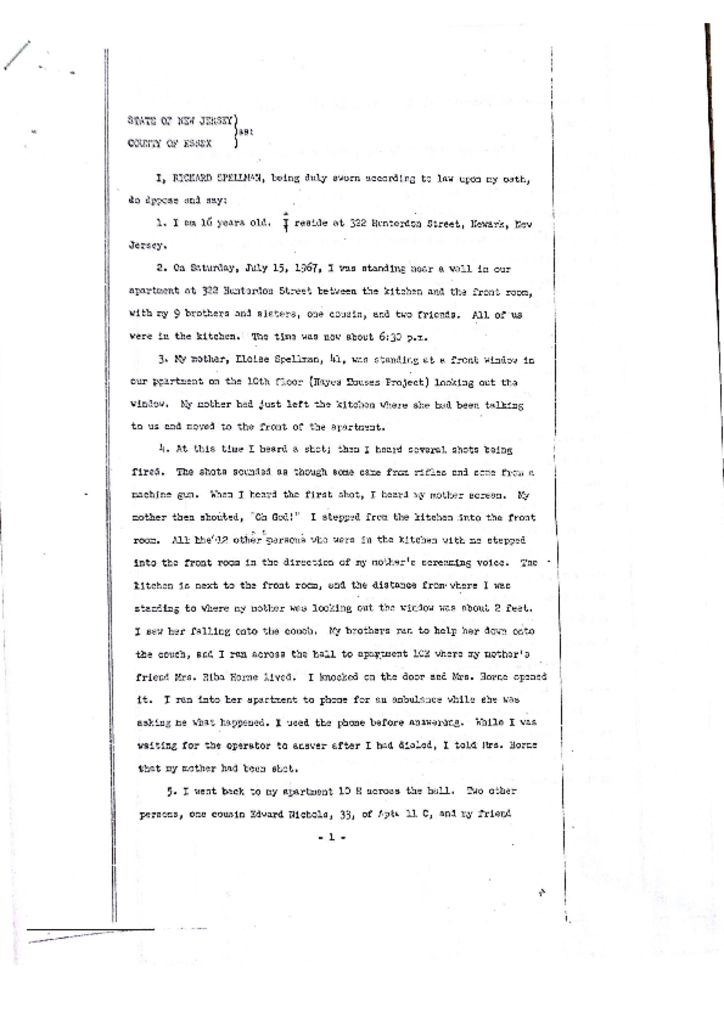 Richard Spellman Deposition on Eloise Spellman