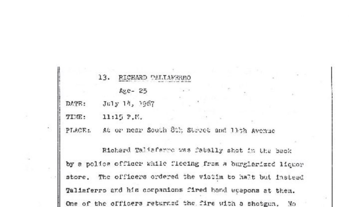 thumbnail of Richard Taliaferro- Grand Jury Report