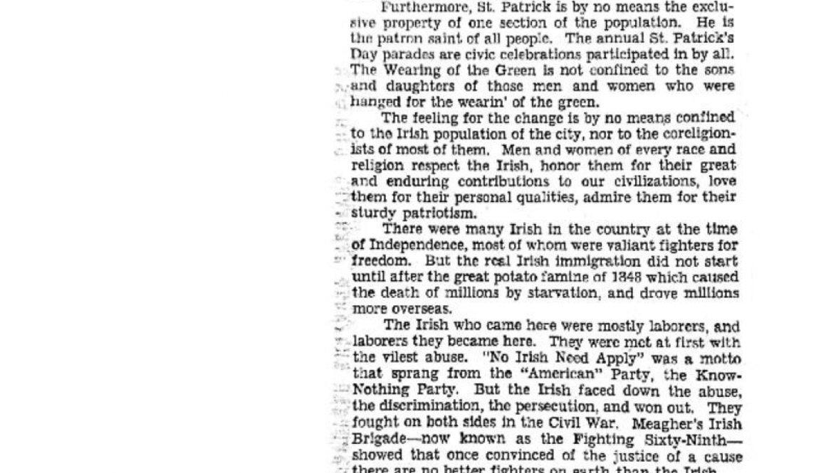 thumbnail of St Patrick's Boulevard (Star Ledger- March 12, 1940)