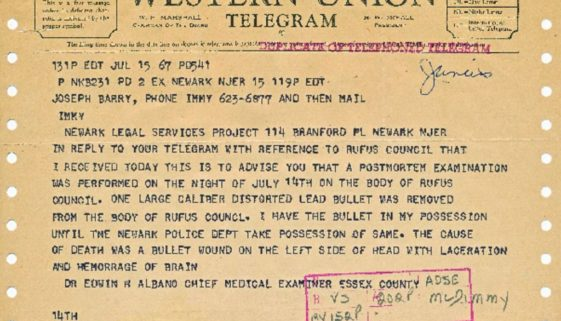thumbnail of Telegram from Edwin Albano to LSP, July 15, 1967