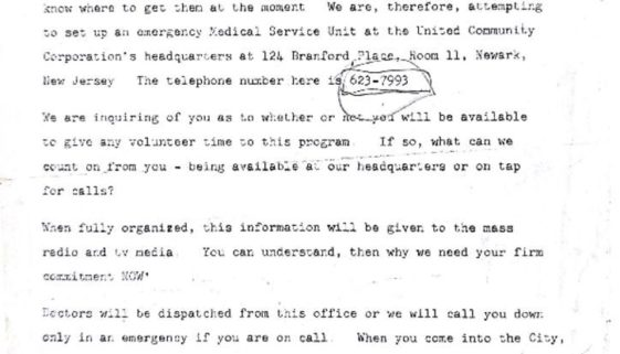 thumbnail of Telephone Transcript from Urban League and UCC Seeking Medical Support During Rebellion