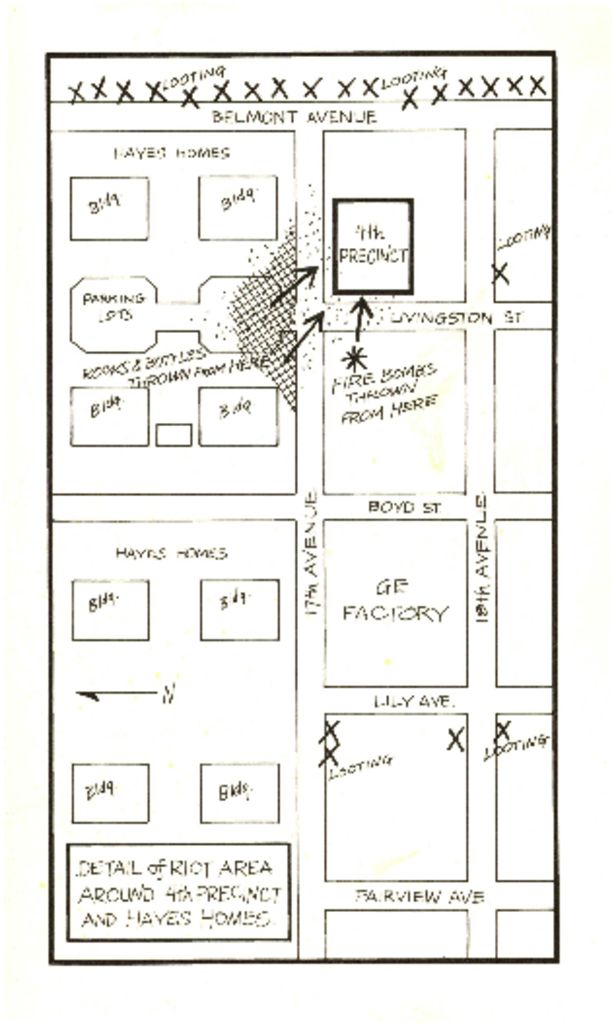 Map of Fourth Precinct Area