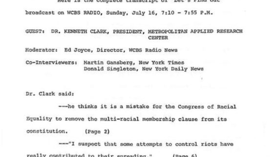 thumbnail of Transcript of WCBS 'Let's Find Out' with Kenneth Clark- July 16 1967-ilovepdf-compressed (1)