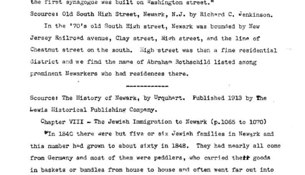 thumbnail of WPA Notes on Jewish History in Newark