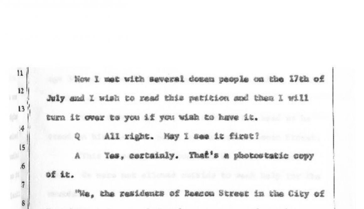 thumbnail of Witness Testimony of Albert Black- Nov 20, 1967 (Excerpt on Community Petition)