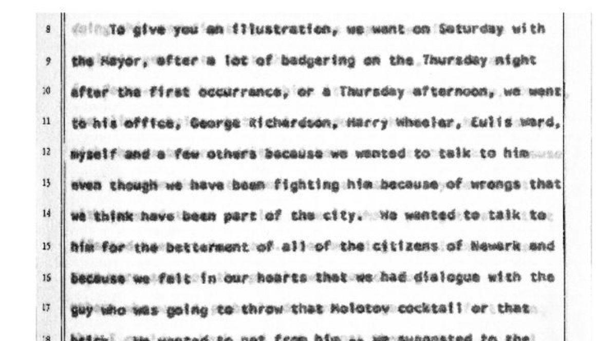 thumbnail of Witness Testimony of Earl Harris- Dec 8, 1967 (Excerpt on Addonizio)
