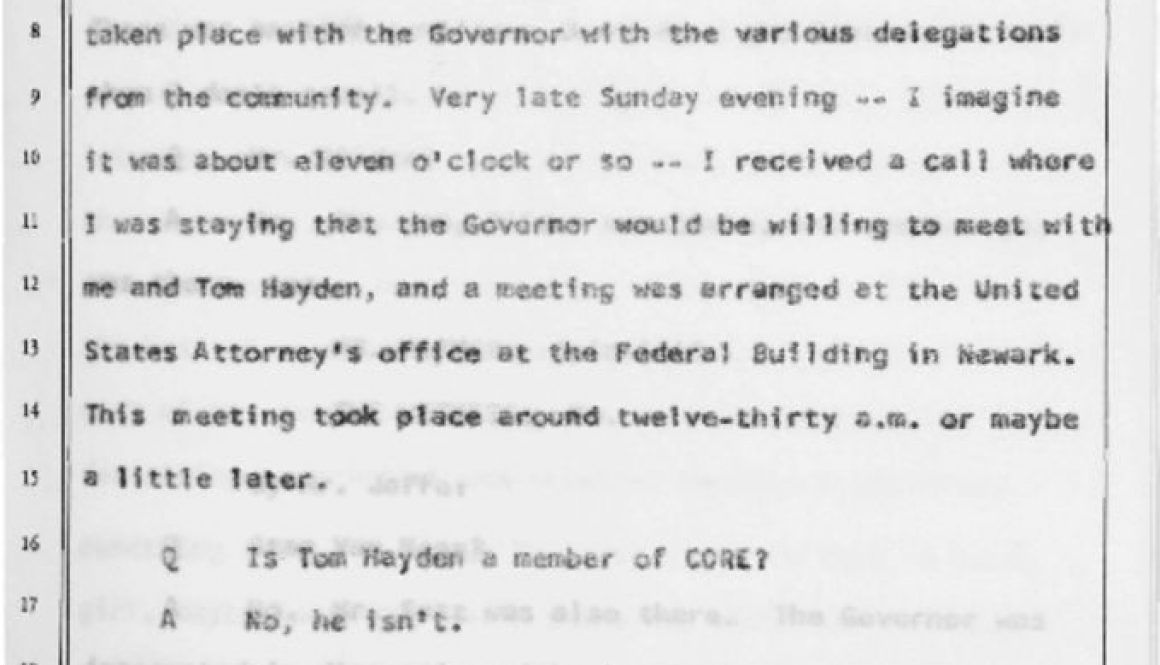 thumbnail of Witness Testimony of Robert Curvin- Oct 17, 1967 (Excerpt on Gov Hughes)