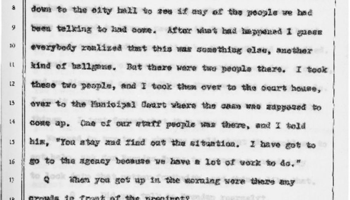 thumbnail of Witness Testimony of Timothy Still- Oct 13, 1967 (Excerpt on July 13 UCC Meeting) (1)