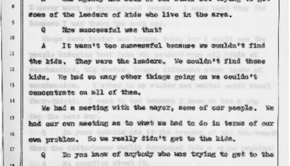 thumbnail of Witness Testimony of Timothy Still- Oct 13, 1967 (Excerpt on UCC Outreach to Kids)