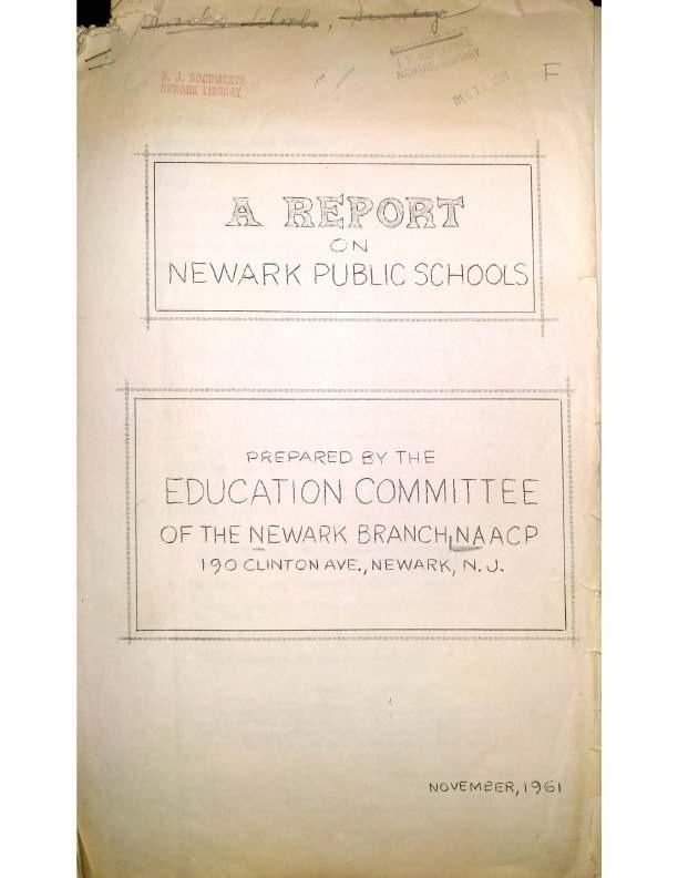 A Report on Newark Public Schools