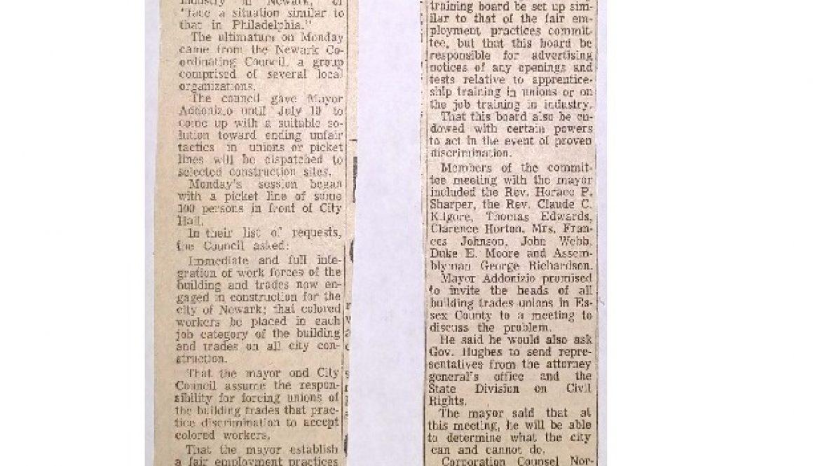 thumbnail of Addonizio is given ultimatum (June 15, 1963)