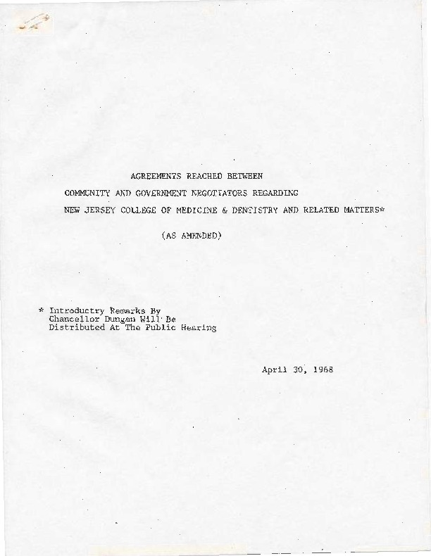 Newark Agreements (1968)