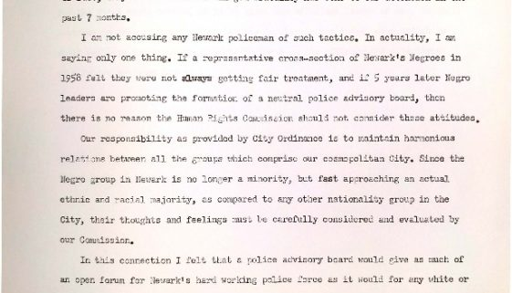thumbnail of Alexander Mark Press Release- Police Advisory Board (March 3, 1963)
