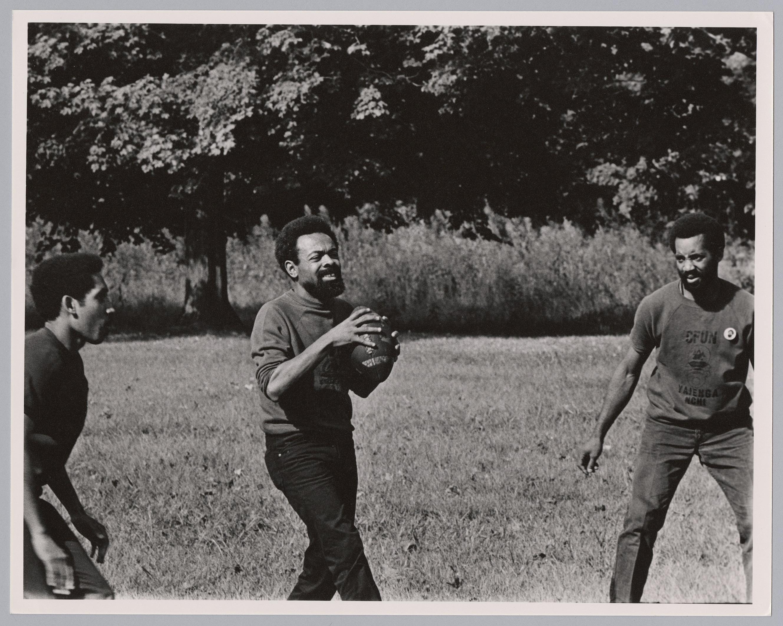 Amiri Baraka Playing Football with CFUN Members