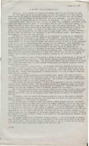 A statement prepared by the Newark Area Planning Association (NAPA) and law volunteers from Vista (Volunteers in Service to America) that put forth a comprehensive argument for an alternate plan for the development of the College of Medicine and Dentistry in Newark's Central Ward. NAPA led the charge to develop an alternate plan for the College of Medicine and Dentistry that would have originally displaced approximately 20,000 Black and Puerto Rican residents of the Central Ward. -- Credit: Junius Williams Collection